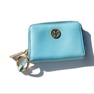 Tory Burch light blue wallet